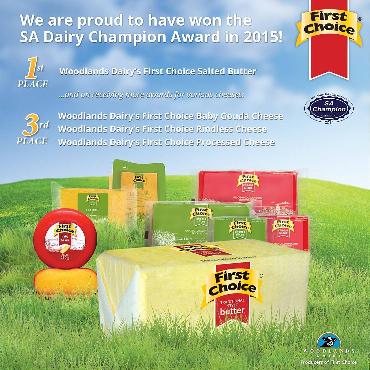 First Choice Wins SA Dairy Champion Award 2015